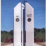 The eagle monument from the front
