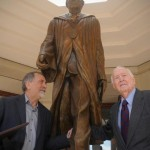 Dr. Doug Smith and Alex at unveiling of statue on the Francis Marion University campus