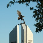 The eagle monument in profile