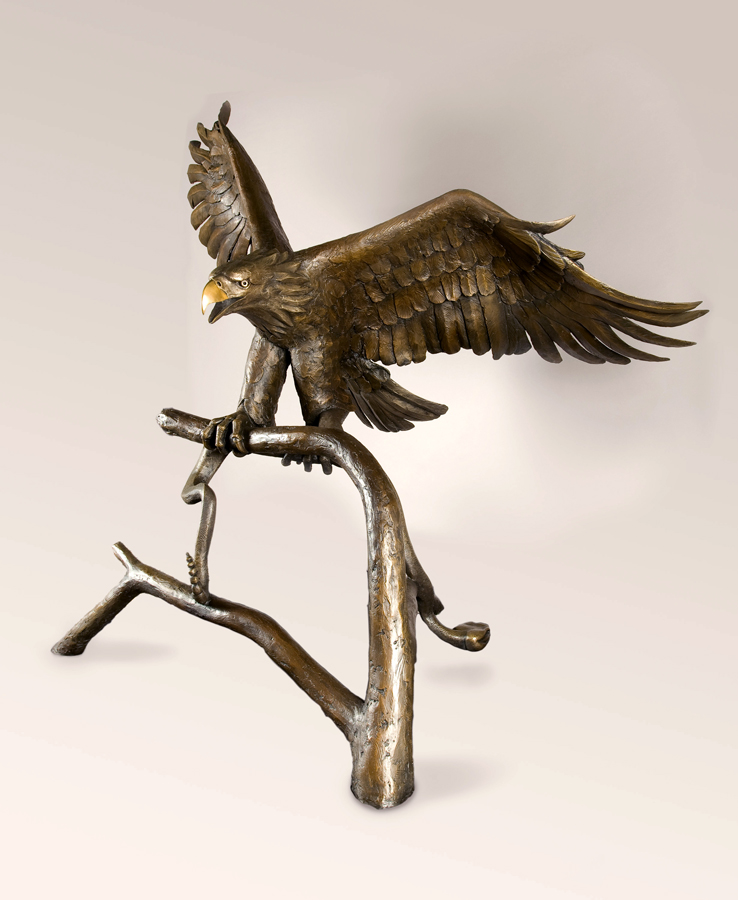 The eagle separate from the monument. The eagle is available as a separate piece.