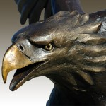 A close-up of the Eagle's head
