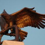 The eagle on top of the monument
