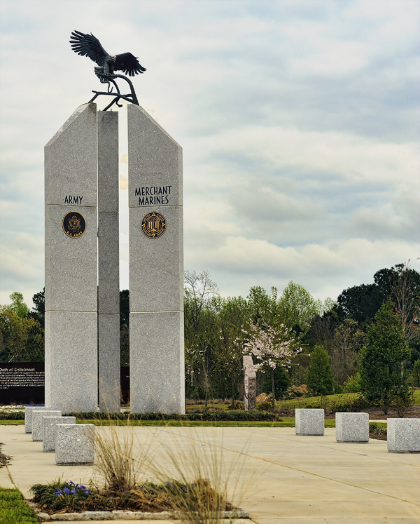 The Eagle Monument in Florence Veterans Park