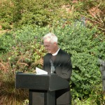 The reverend giving his invocation at the unveiling