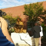 The Huey Cooper sculpture now unveiled