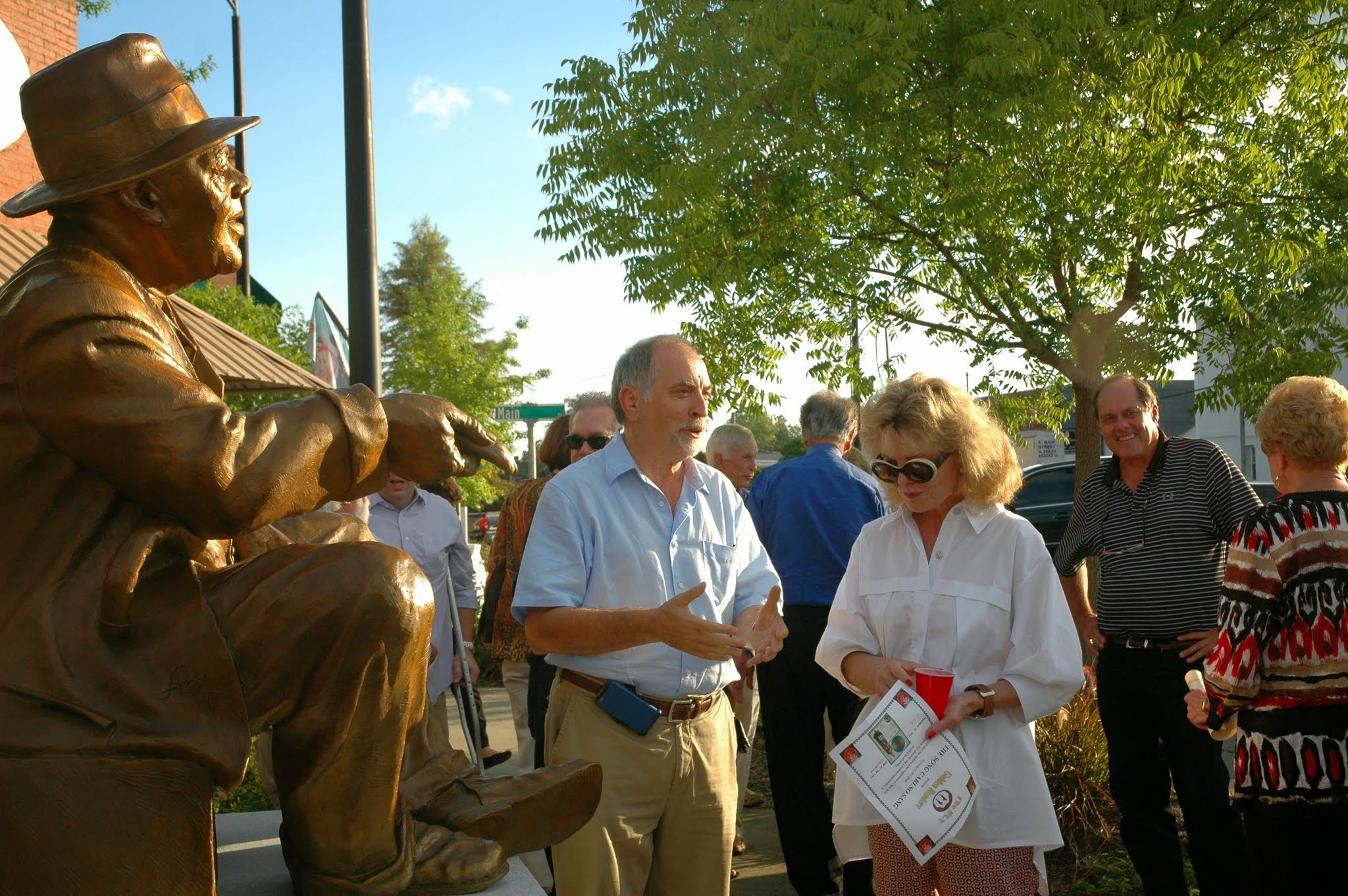 After the unveiling of the Huey Cooper sculpture in Lake City, SC