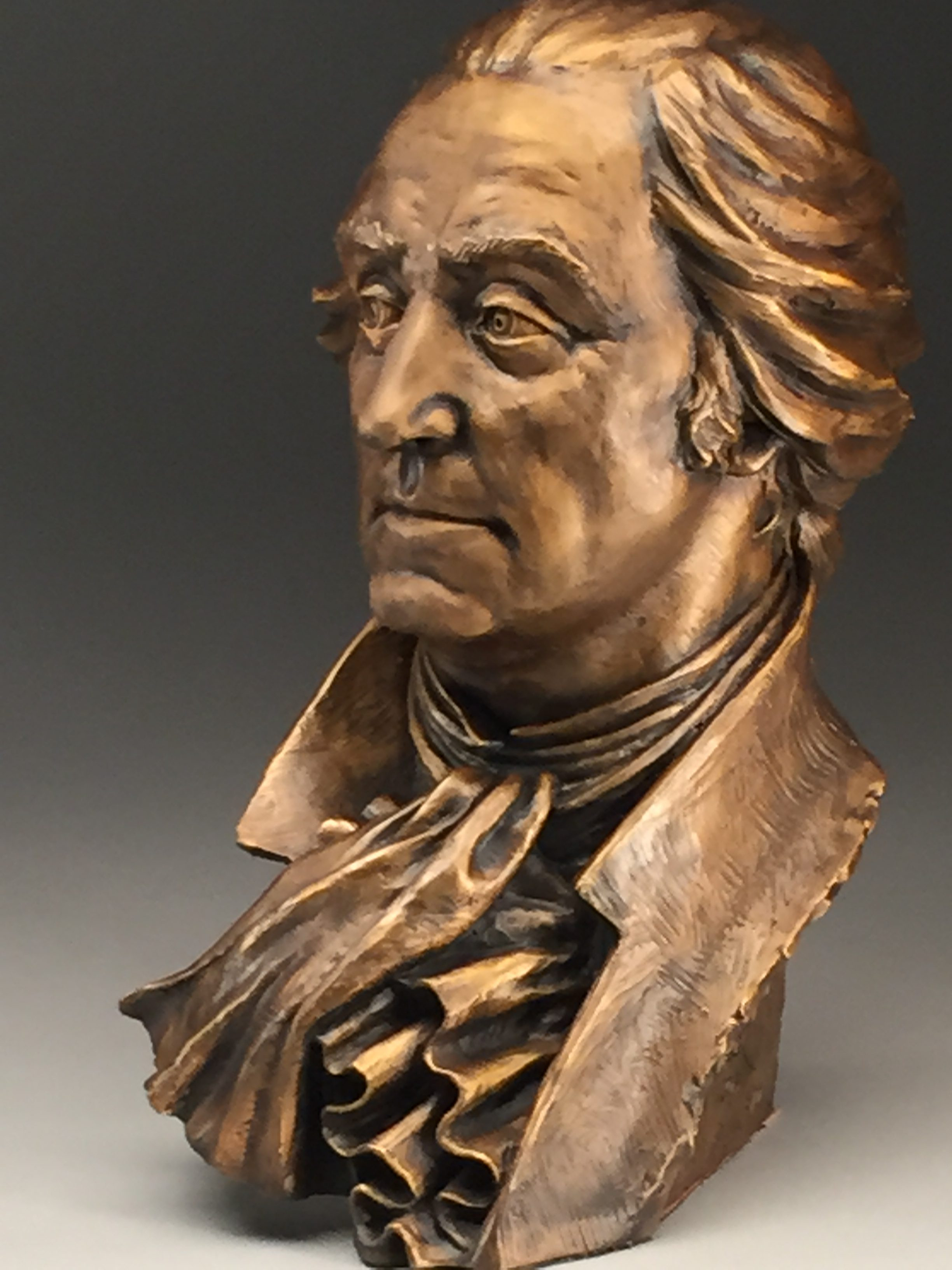 Bronze Bust of George Washington - Father of His Nation