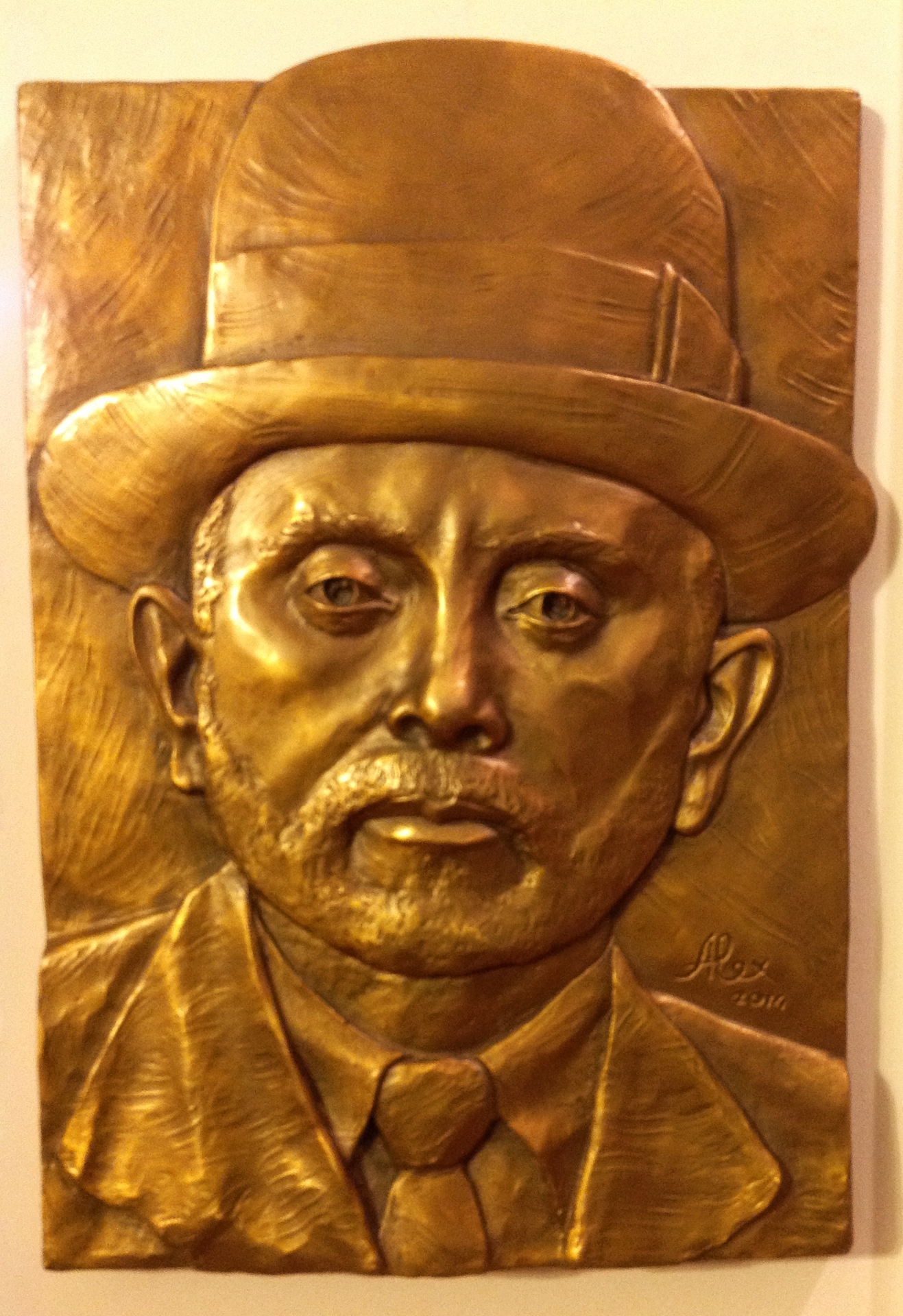 Grandfather - Bronze Relief