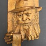 Rabbi of Lubavitcher, Bronze, 18 inches by 12 inches